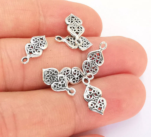 5 Sterling Silver Charms 925 Silver Charms (13x6mm) OG21892