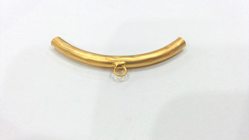 Gold Plated Brass Tube Pendant with 1 Loop Setting,connector ,Findings G278