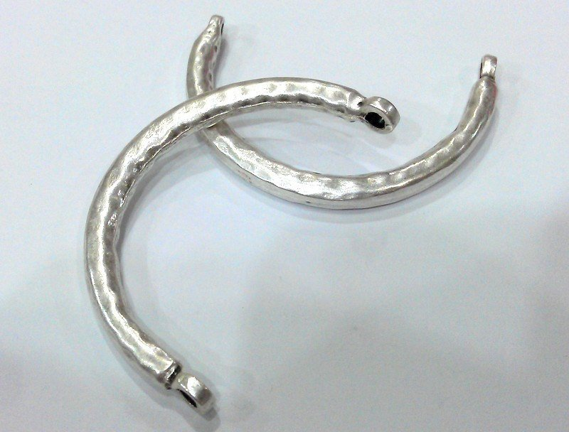 Bangle Bracelet Components Antique Silver Plated Metal  Bracelet For Your Craft , Findings  G12637
