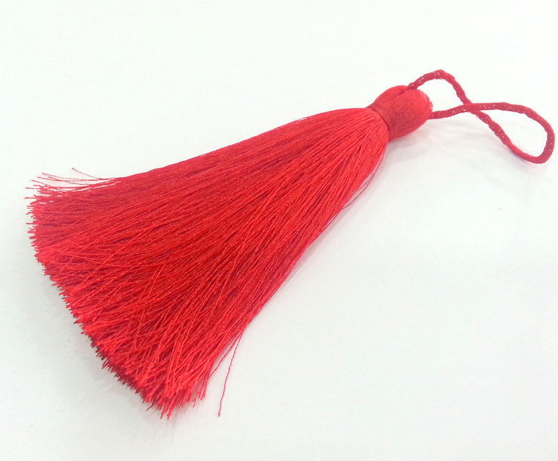 Red Tassel ,  Large Thick   113 mm - 4.4 inches   G9473