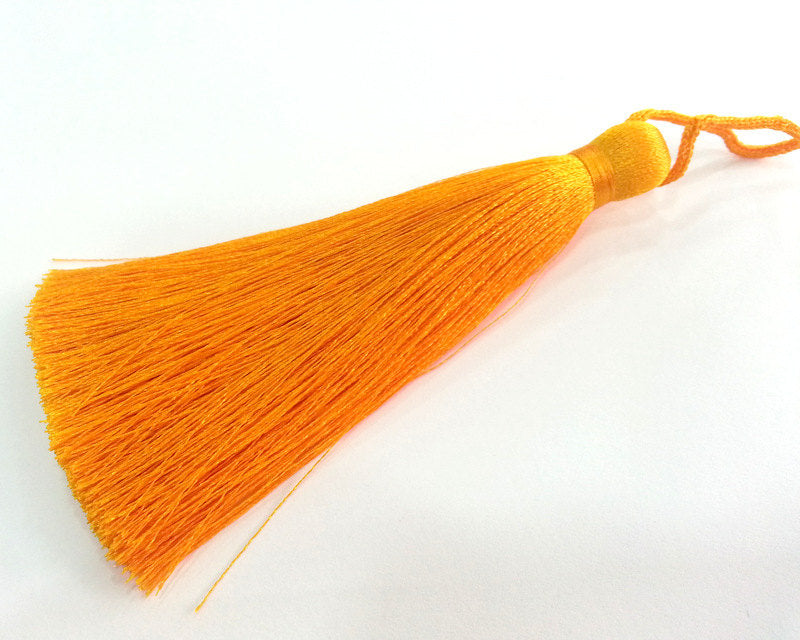 Orange Tassel ,  Large Thick  113 mm - 4.4 inches   G2834