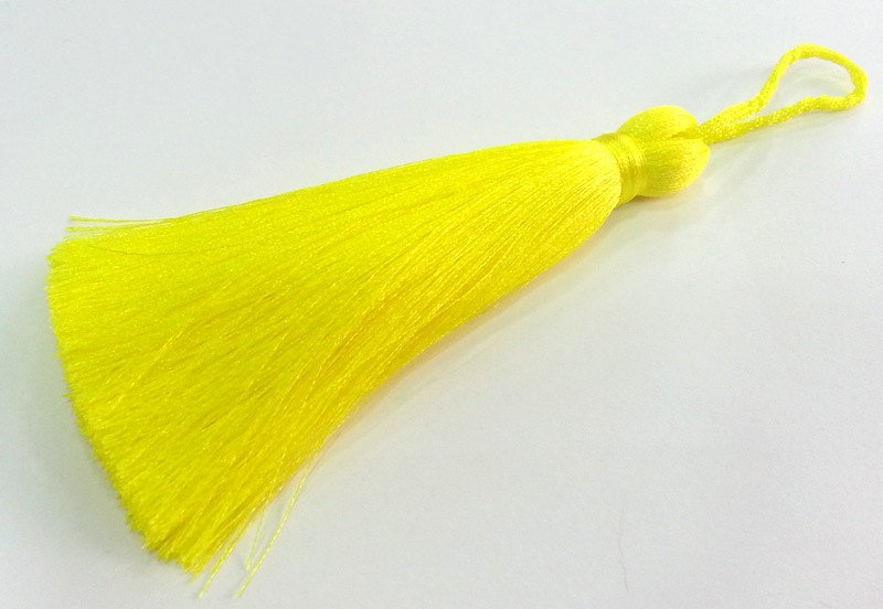 Neon Yellow  Tassel , Large Thick 113 mm - 4.4 inches   G2846