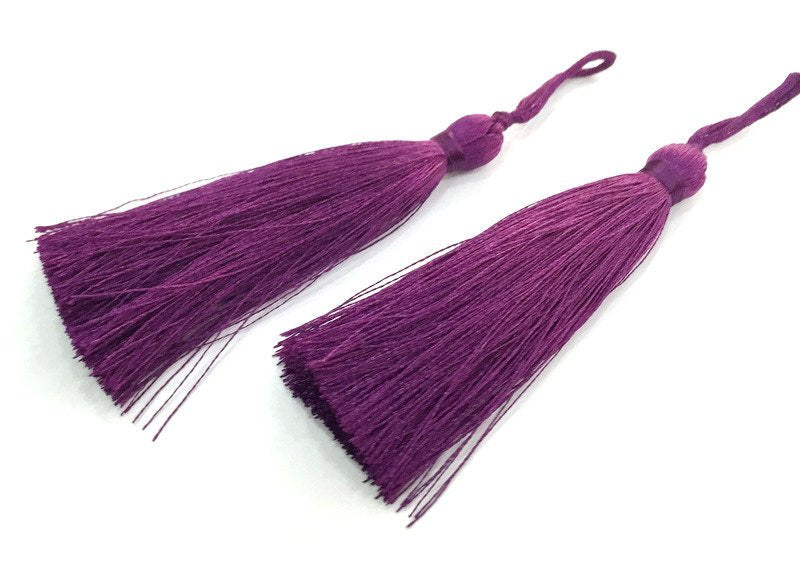 2 pcs (78 mm - 3 inches)  Dark Purple  Tassel   G12236