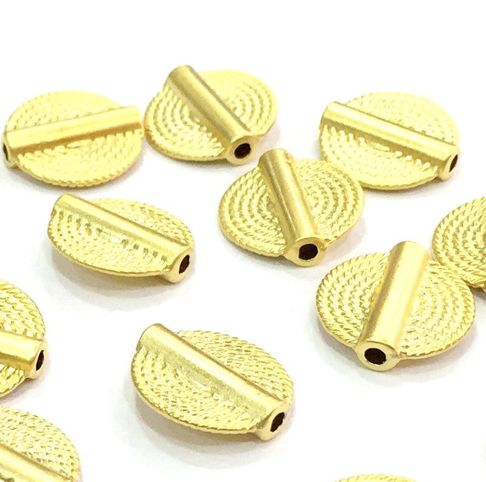 4 Gold Beads Gold Plated Metal Round Beads (15 mm) G4544