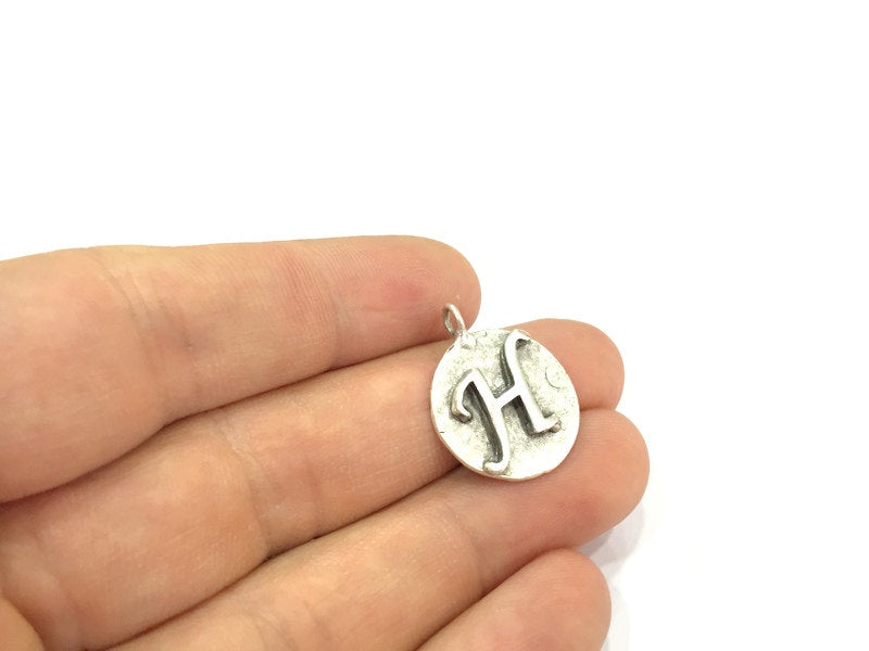 20mm H Charm , Antique Silver  Plated Brass G4874
