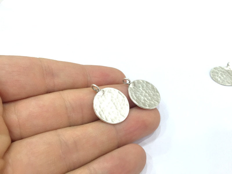 2 Pcs  Antique Silver Plated Brass  Charms 20mm  G4998