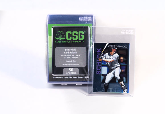 Sports Cards - Semi-Rigid Card Holders - Order Limit 10 per household