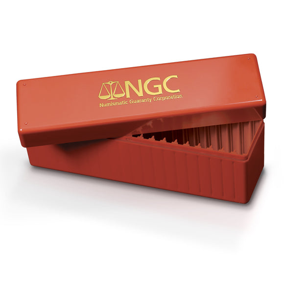 NGC Red & Gold Standard Coin Holder Display Box