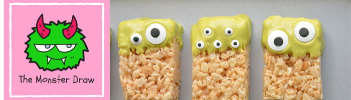 Easy Peasy Rice Krispy Treat Monsters