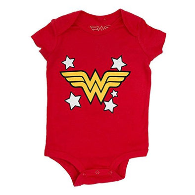 Wonder Woman Red Infant Baby Girl Romper Onesie Bodysuit - Snapback Empire