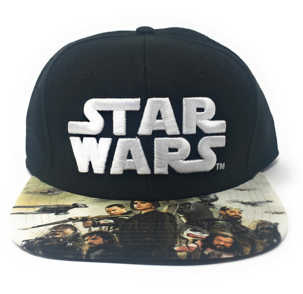 Star Wars Rogue One Black Snapback Hat - Snapback Empire