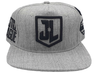 DC Comics Justice League Logo Grey Snapback Hat - Snapback Empire