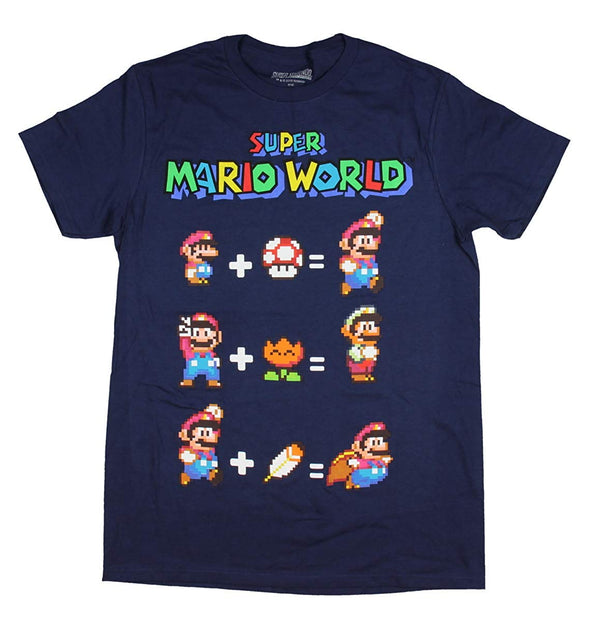 Nintendo Men's Super Mario World Equation T-Shirt - Snapback Empire