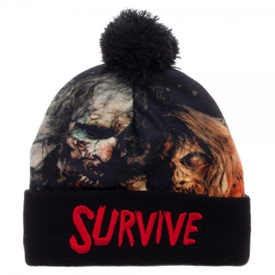 Walking Dead Survive Cuff Beanie Hat - Snapback Empire