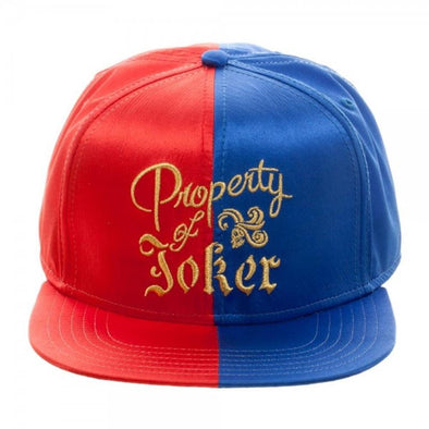 Harley Quinn Property of Joker Satin Snapback Hat - Snapback Empire