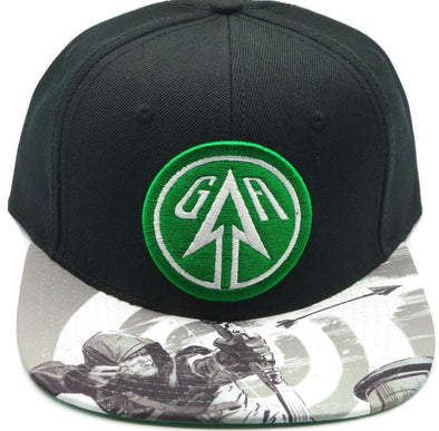Green Arrow Snapback Hat - Snapback Empire