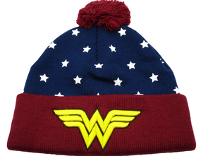DC Comics Wonder Woman Stars Beanie Hat - Snapback Empire