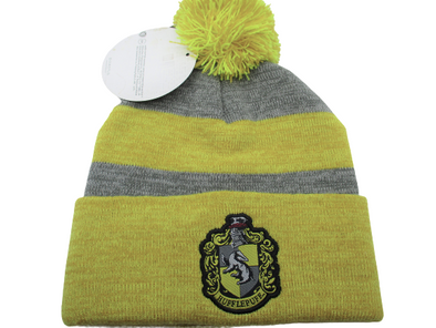 Harry Potter Hufflepuff Pom Beanie Hat - Snapback Empire