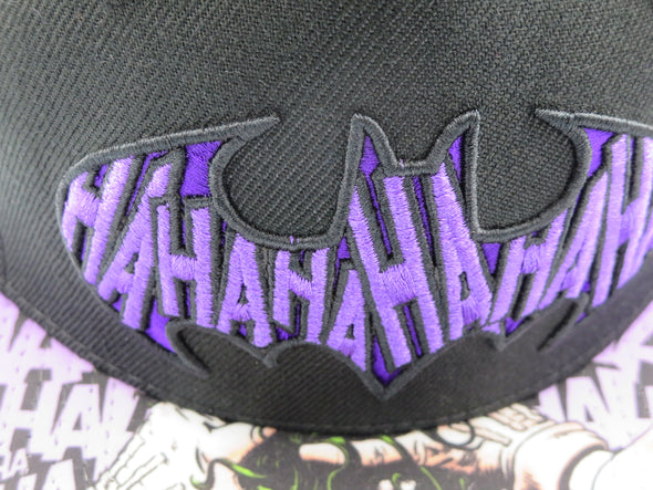 Batman Joker Sublimated Bill Snapback Hat - Snapback Empire