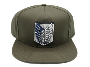 Attack On Titan Scout Logo Snapback Hat - Snapback Empire