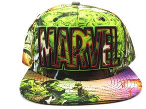 Marvel Hulk Green Sublimated Snapback Hat - Snapback Empire