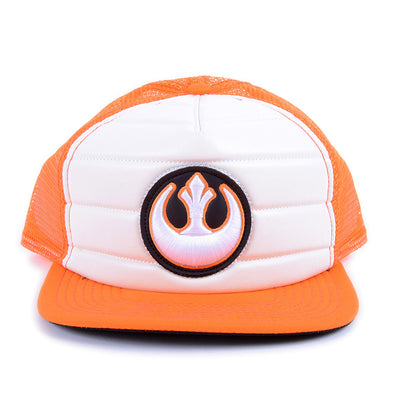 Star Wars Rebel Orange Trucker Snapback Hat - Snapback Empire