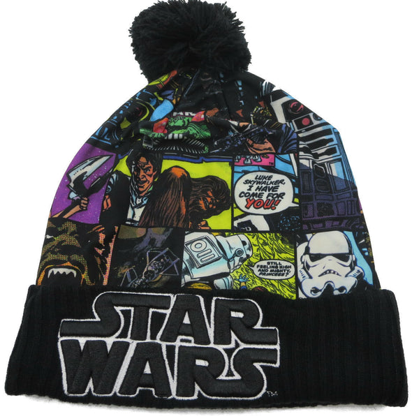 Star Wars Sublimated Cuff Pom Beanie Hat - Snapback Empire