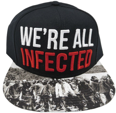 Walking Dead AMC We're All Infected Black Snapback Hat - Snapback Empire