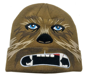 Star Wars Chewbacca Brown Cosplay Beanie Hat - Snapback Empire