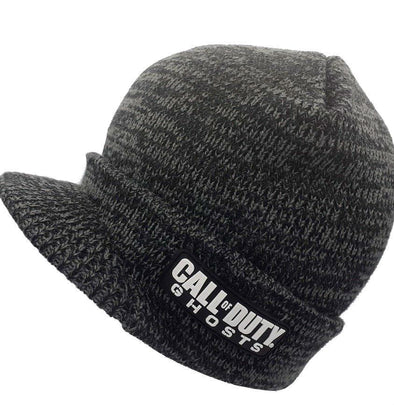 Call Of Duty Ghosts Cuff Visor Billed Gray Beanie Hat - Snapback Empire
