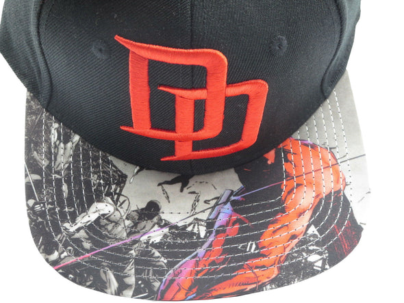 Marvel Daredevil Black Snapback Hat - Snapback Empire