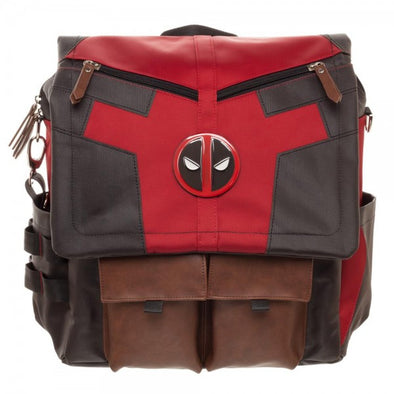 Marvel Deadpool Costume Utility Convertible Backpack Crossbody Messenger Bag - Snapback Empire