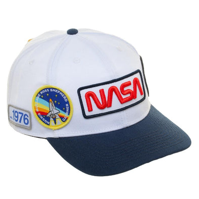 NASA Multi Patch Pre-Curved Bill Snapback - Snapback Empire