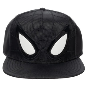 Marvel Comics Black Spiderman Suit Up Ballistic Nylon Snapback - Snapback Empire