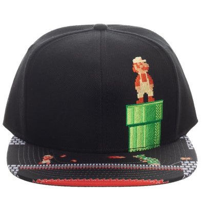 Super Mario 8-Bit Bill Snapback Hat - Snapback Empire