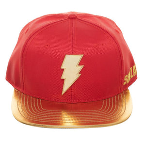 Shazam Faux Leather Bill Snapback Hat - Snapback Empire