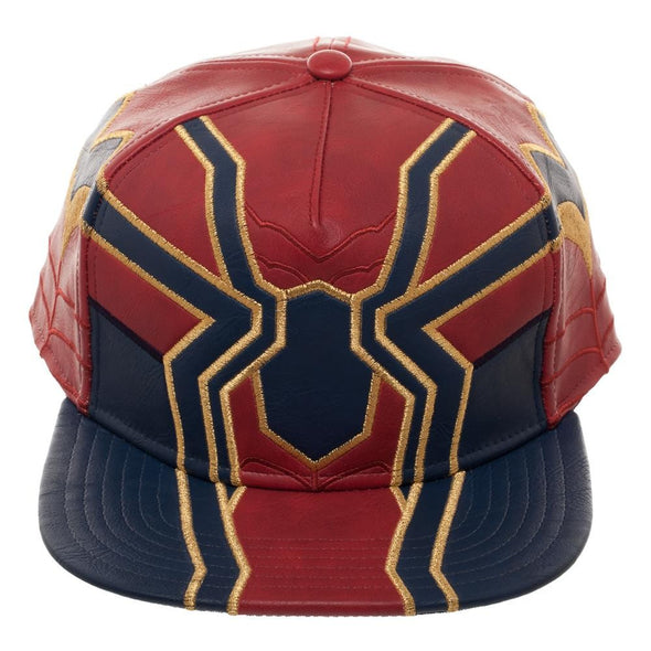 Avengers Infinity War Iron Spider Suit Up PU Snapback Hat - Snapback Empire