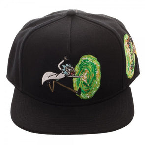 Rick and Morty Portal Black Snapback Hat Baseball Cap - Snapback Empire