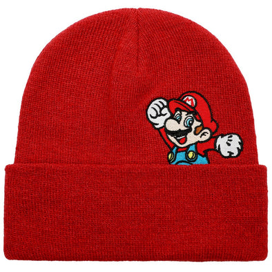 Nintendo Super Mario Red Beanie Hat - Snapback Empire