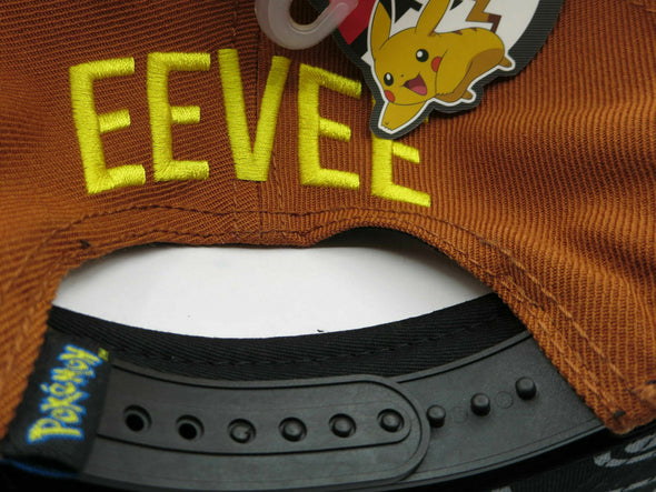 Pokemon Eevee Brown Nintendo Snapback Hat - Snapback Empire
