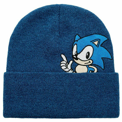 Sonic The Hedgehog Blue Beanie Hat - Snapback Empire