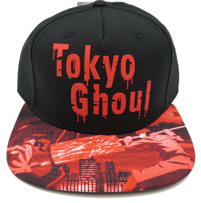 Tokyo Ghoul Sublimated Bill Black Snapback Hat - Snapback Empire