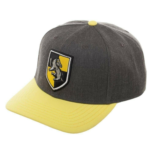 Harry Potter Hufflepuff Curved Bill Alumni Crest Snapback Hat - Snapback Empire