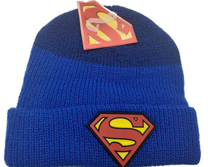 Superman Logo Blue Beanie Hat - Snapback Empire