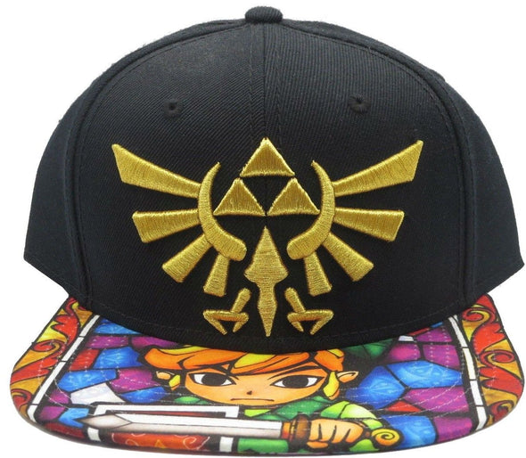 Nintendo Legend of Zelda Stain Glass Snapback Hat - Snapback Empire