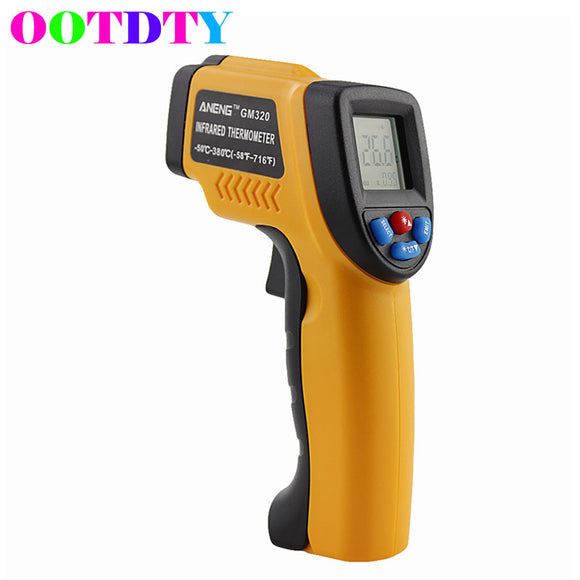 ANGGO IR Infrared Non-contact Digital Temperature Gun Thermometer with Laser for Precisely Aiming, Bright LCD Display with LED Backlight (-58 °F to 716°F) - c6d9.co [#product_title]