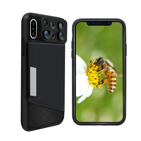 6-In-1 Lens Case For iPhone X, 8 Plus, 7 Plus - c6d9.co [#product_title]