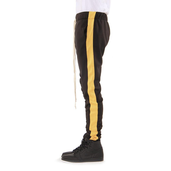 BLACK/YELLOW-Track Pants - c6d9.co [#product_title]