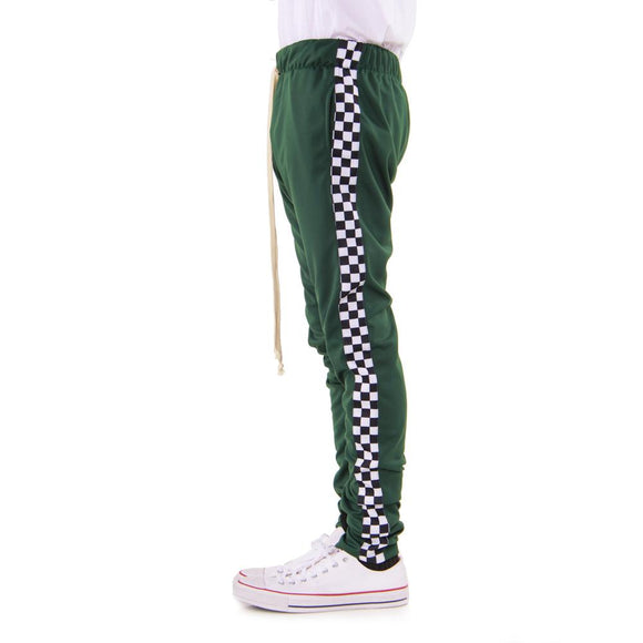 GREEN-Racing Track Pants - c6d9.co [#product_title]