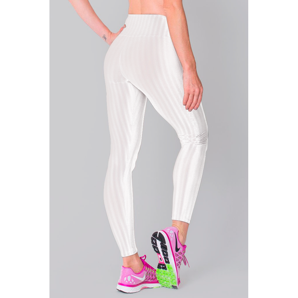 White 3D Disco Leggings - c6d9.co [#product_title]